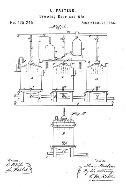Louis Pasteur Beer Patent