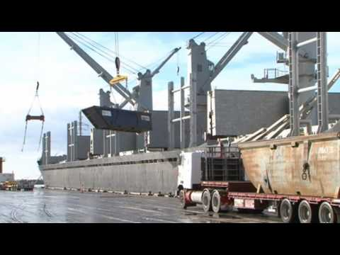 Trucks loading ships resized 600
